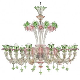 Altea 12 lights - Murano glass chandelier