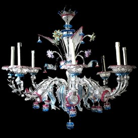 Casanova - Old Rezzonico - Murano glass chandelier 8 lights
