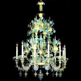 Murano glass chandelier Old Rezzonico Doge 12 lights
