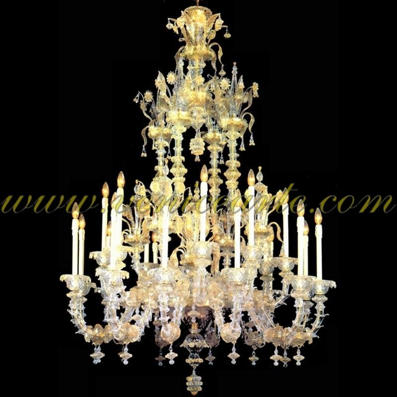 lustre en verre de murano ancien rezzonico san marco. Black Bedroom Furniture Sets. Home Design Ideas