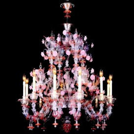 Murano glass chandelier Old San Patrizio Rezzonico 12 lights