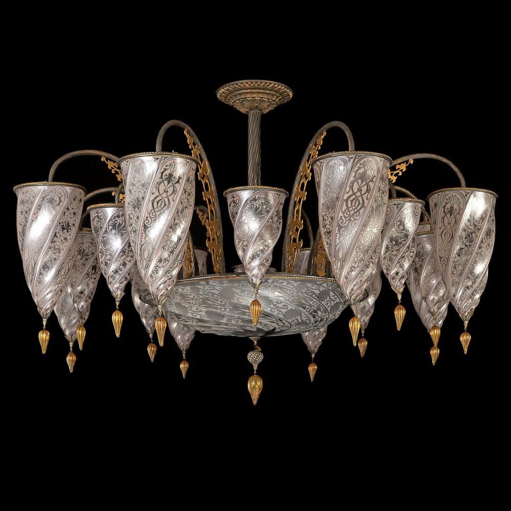 Murano Glass Chandelier Old San Patrizio Rezzonico
