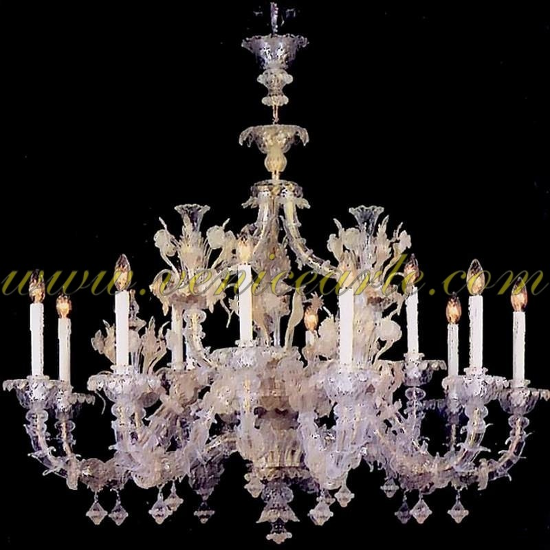 san rocco lustre en verre de murano ancien rezzonico. Black Bedroom Furniture Sets. Home Design Ideas