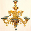 Fruits - Murano glass chandelier