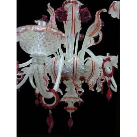 Venice glass chandelier Gherardini detail
