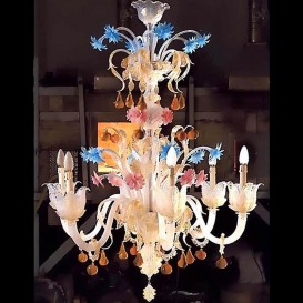 Apples and pears - Venice glass chandelier 6 lights