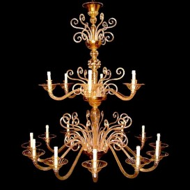 Curls - Venetian glass chandelier