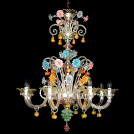 San Bartolomeo - Murano glass chandelier 8 lights