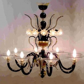 Piramide - Murano chandelier 8 lights