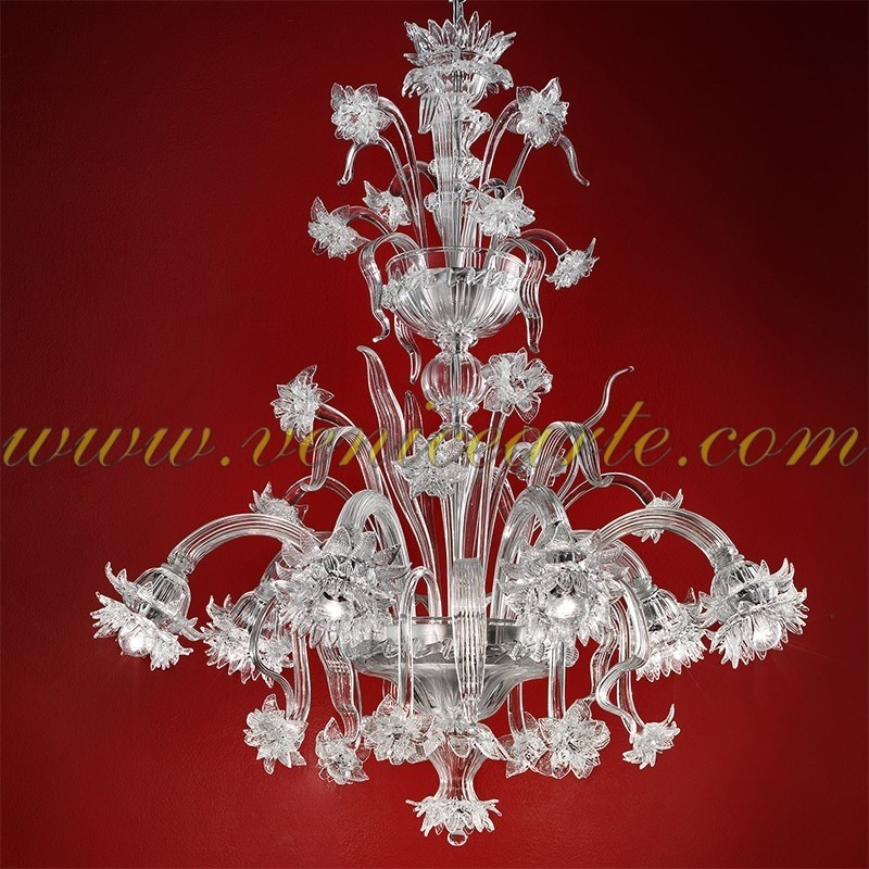 dahlia lustre en verre de murano. Black Bedroom Furniture Sets. Home Design Ideas
