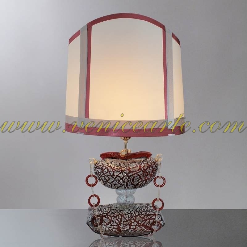 lampe de table en verre de murano sac rouge. Black Bedroom Furniture Sets. Home Design Ideas