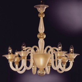 Riva Schiavoni - Murano glass chandelier 8 lights