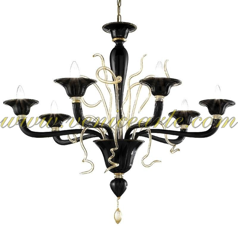 torcello murano glass chandelier. Black Bedroom Furniture Sets. Home Design Ideas