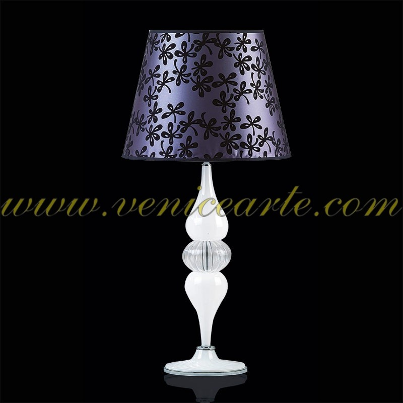 lampe de table en verre de murano m516lg. Black Bedroom Furniture Sets. Home Design Ideas