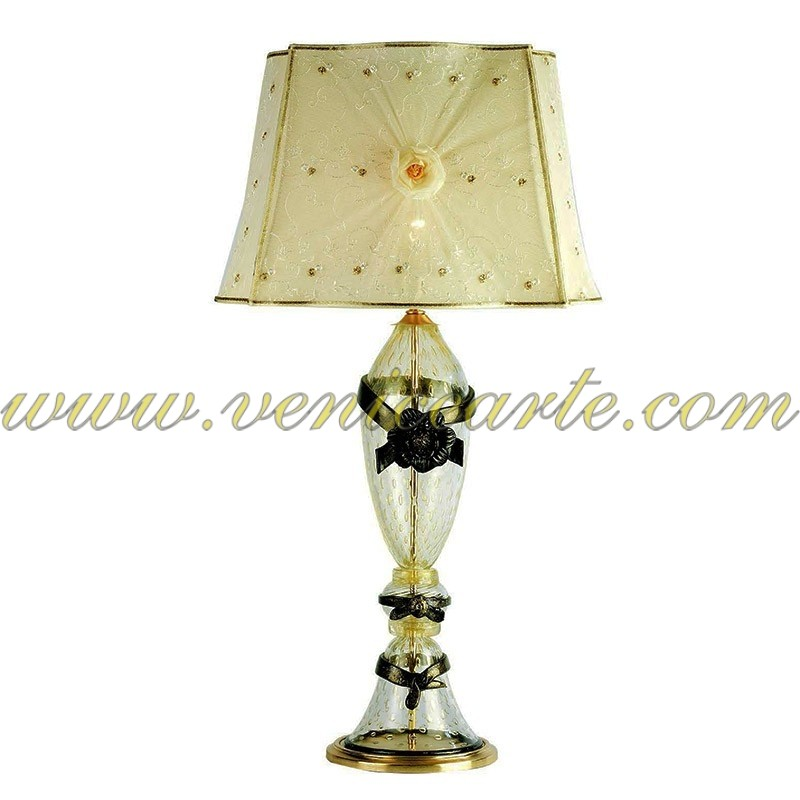 lampe de table en verre de murano m947. Black Bedroom Furniture Sets. Home Design Ideas