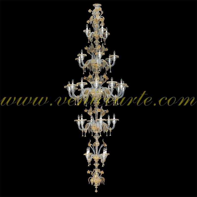 magnifico lustre en verre de murano. Black Bedroom Furniture Sets. Home Design Ideas