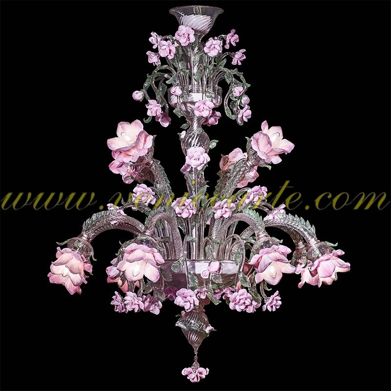 Garden of roses murano glass chandelier garden mozeypictures Image collections