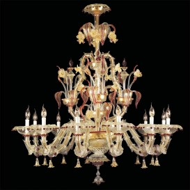Athena Murano glass chandelier 12 lights