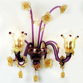 Penelope Murano wall sconce 2 lights