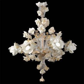Biancarosa Murano Chandeliers 6 lights