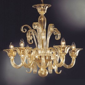 Clary - Murano glass chandelier 6 lights