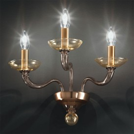 Murano wall sconce 3 lights Diomedes