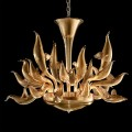Golden birds - Murano glass chandelier