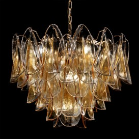 Swallow chandelier in Murano glass