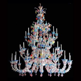 Classic Rezzonico - Murano glass chandelier 38 lights