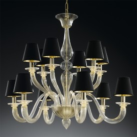 Shiva - Murano glass chandelier in Gold