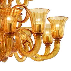 Gioiello - Murano glass chandelier detail