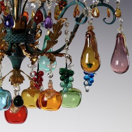 Flowers and fruits murano glass chandeliers venice arte bacco murano glass chandelier aloadofball Images