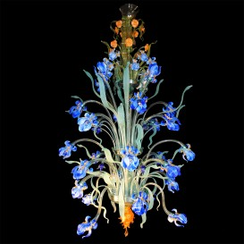 Iris Van Gogh - Murano chandelier with 24 lights