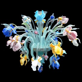 Iris multicolor 18 lights - Murano Ceiling light