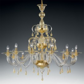 Zarina - Murano glass chandelier 12 lights