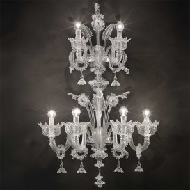 Malipiero - Murano glass wall sconce