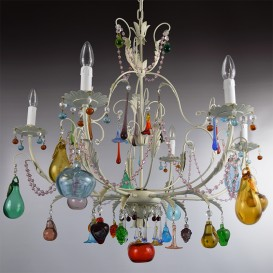 Liber - Murano glass chandelier 6 lights