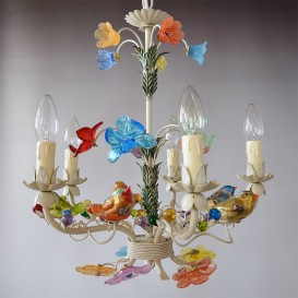 Flowers and fruits murano glass chandeliers venice arte sparrows murano glass chandelier aloadofball Images