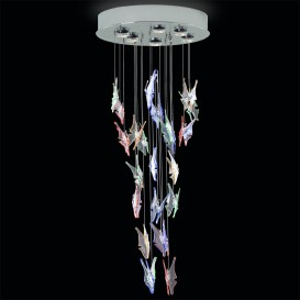 Butterflies - Murano-glass chandelier