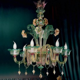 Doria - Murano glass chandelier 6 lights