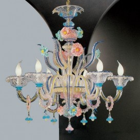 Eleonora - Murano glass chandelier 6 lights
