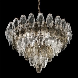 Poliedri Grey - Murano glass chandelier