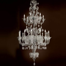 Giulietta - Murano glass chandelier 18 lights All Crystal