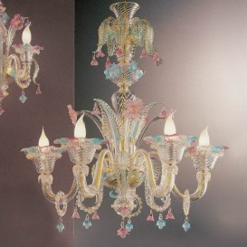 Lucretia - Murano glass chandelier 6 lights