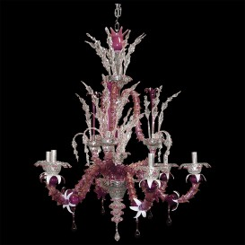 Z055 - Murano glass chandelier 6 lights