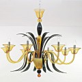 Gabbiano - Murano glass chandelier 8 lights