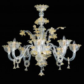 Dolfin 8 lights - Murano glass chandelier