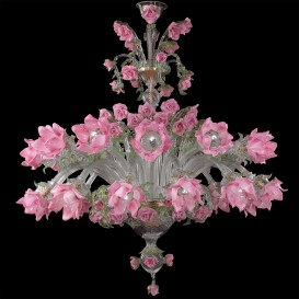 Rosebush - Murano glass chandelier