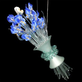 Iris Van Gogh Bouquet - Murano glass chandelier