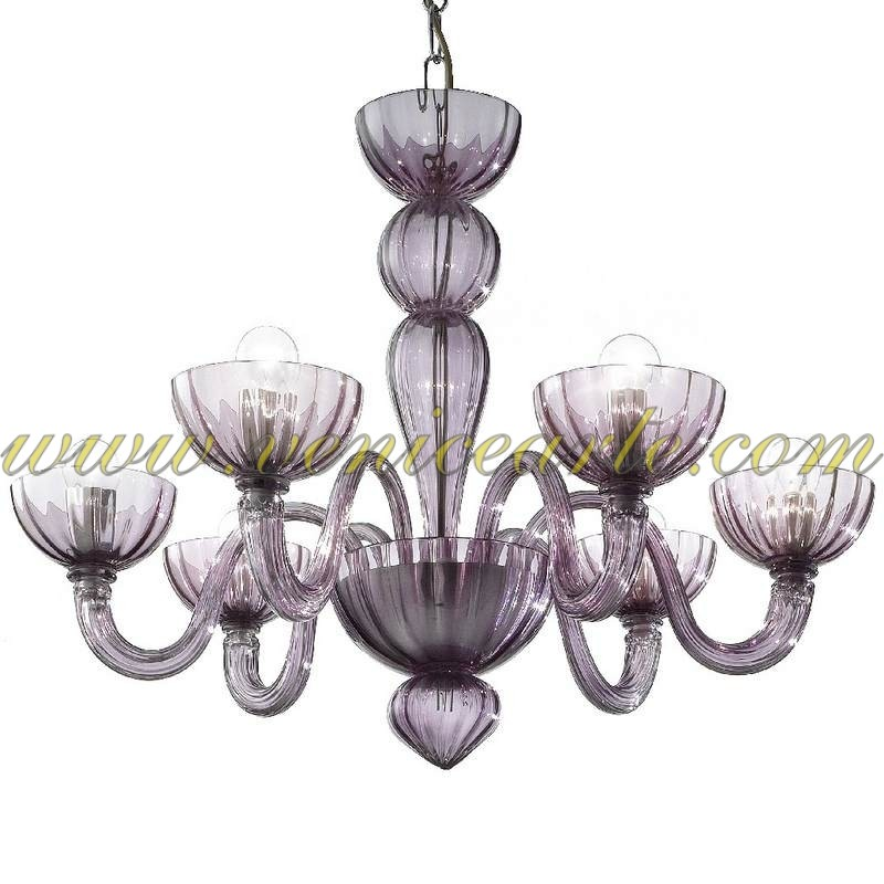Malamocco Murano Glass Chandelier